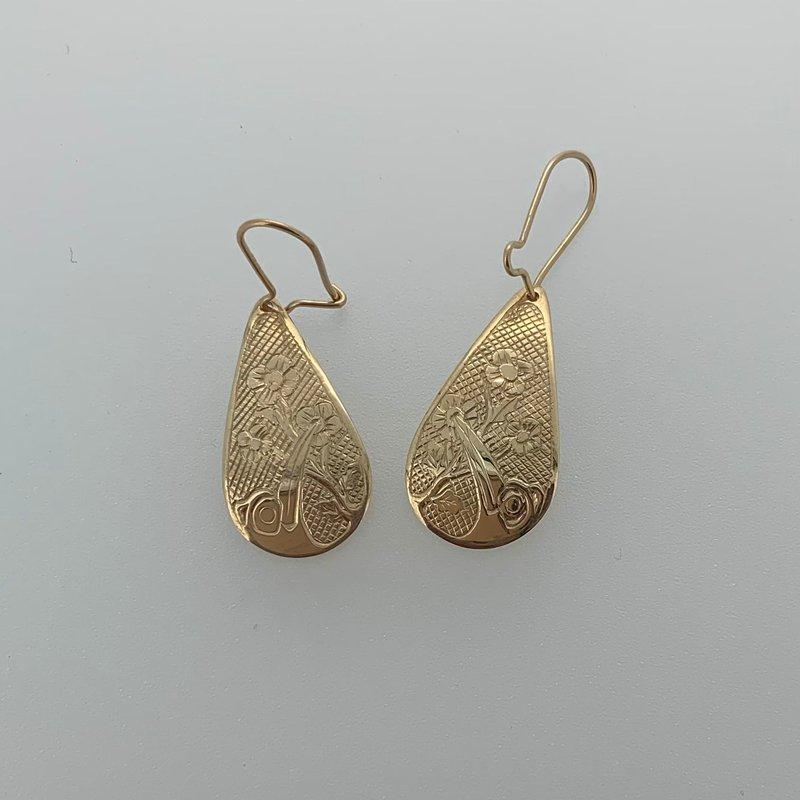 First Nations Jewellery Hummingbird Teardrop Earrings