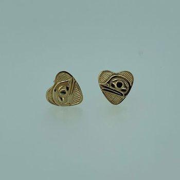 Frog Heart Button Earrings