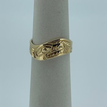 Wolf Wave Ring