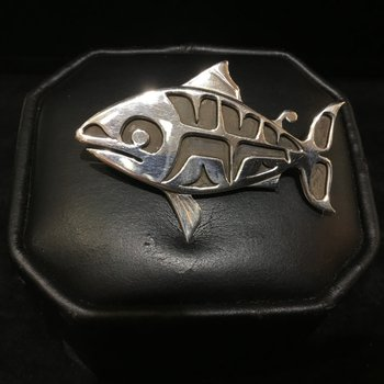 Salmon Pin by Wayne Wilson
