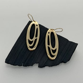 Long Oval Salmon Egg Earrings