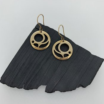 Round Salmon Egg earrings