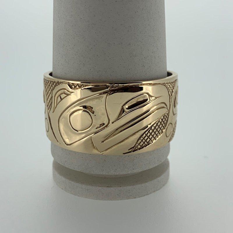 First Nations Jewellery Raven Ring by Carmen Goertzen