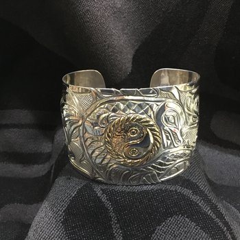 "2"" bracelet carved by Bill Helin, and Alex Helin"