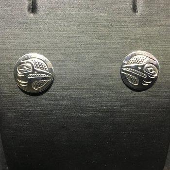 Hummingbird button earrings by John sterritt