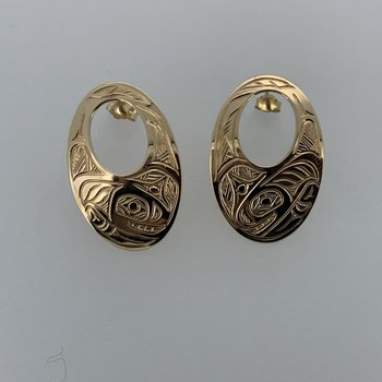 Oval Killerwhale Earrings