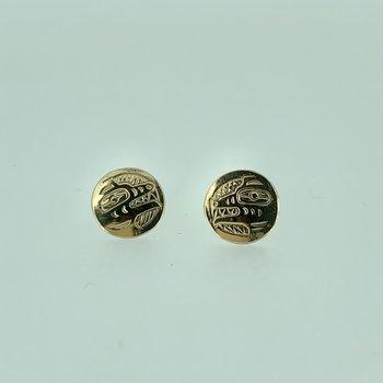 Wolf Button Earrings By John Sterritt