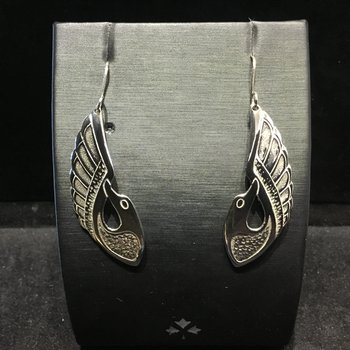 Loon Earrings by Val Malesku