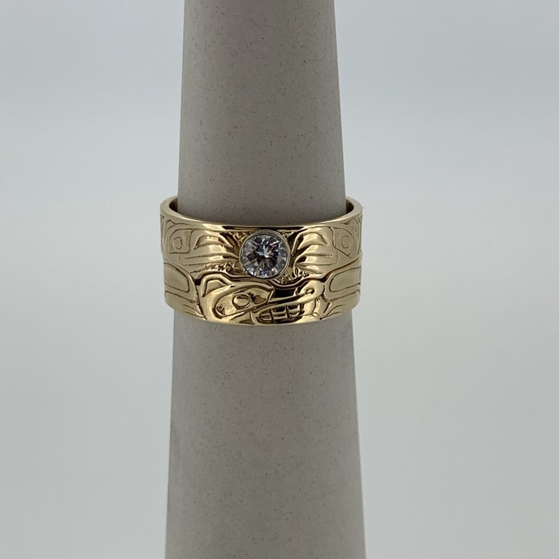 First Nations Jewellery Eagle raven and Wolf wedding set