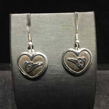 Hummingbird Heart Earrings by Carmen Goertzen