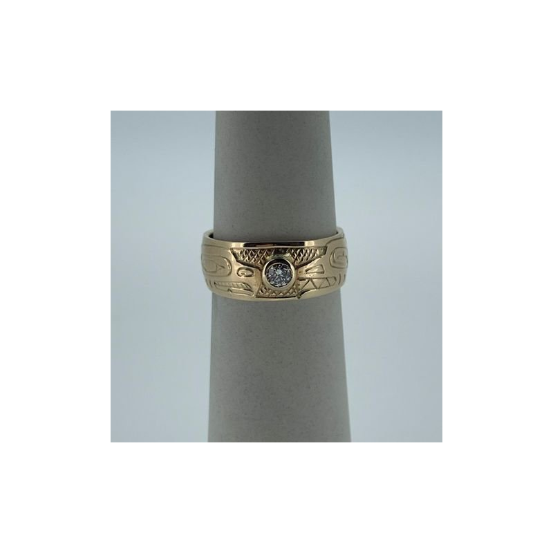 First Nations Jewellery Eagle and Killerwhale Diamond Band