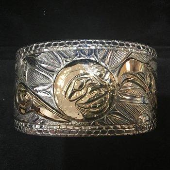 Eagle/Moon/Hummingbird Bracelet by Bill Helin