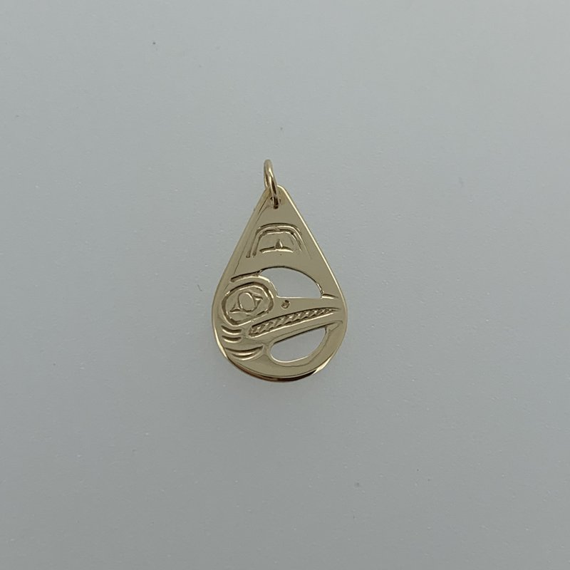 First Nations Jewellery Tear Drop hummingbird pendant