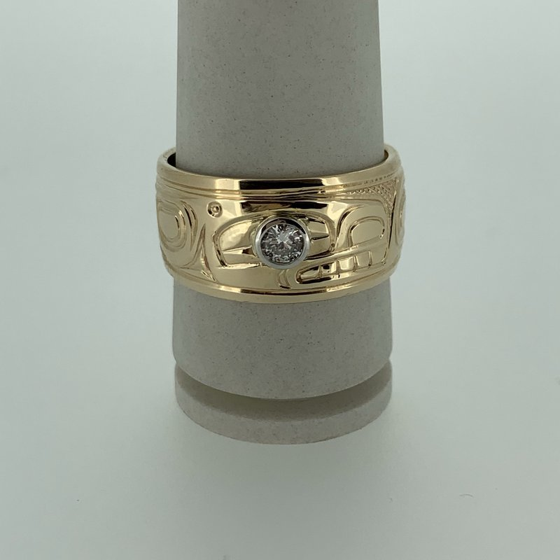 First Nations Jewellery Killerwhale Diamond band