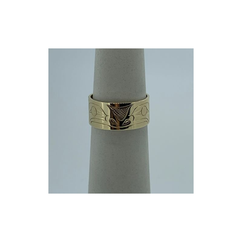 First Nations Jewellery Yellow Gold Frog Ring