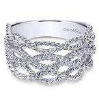 Gabriel Fashion 14k White Gold Hampton Diamond Ladies' Ring