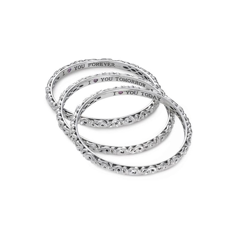 Charles Krypell 'I Love You Today..Tomorrow.. Forever…' Bangle Bracelets