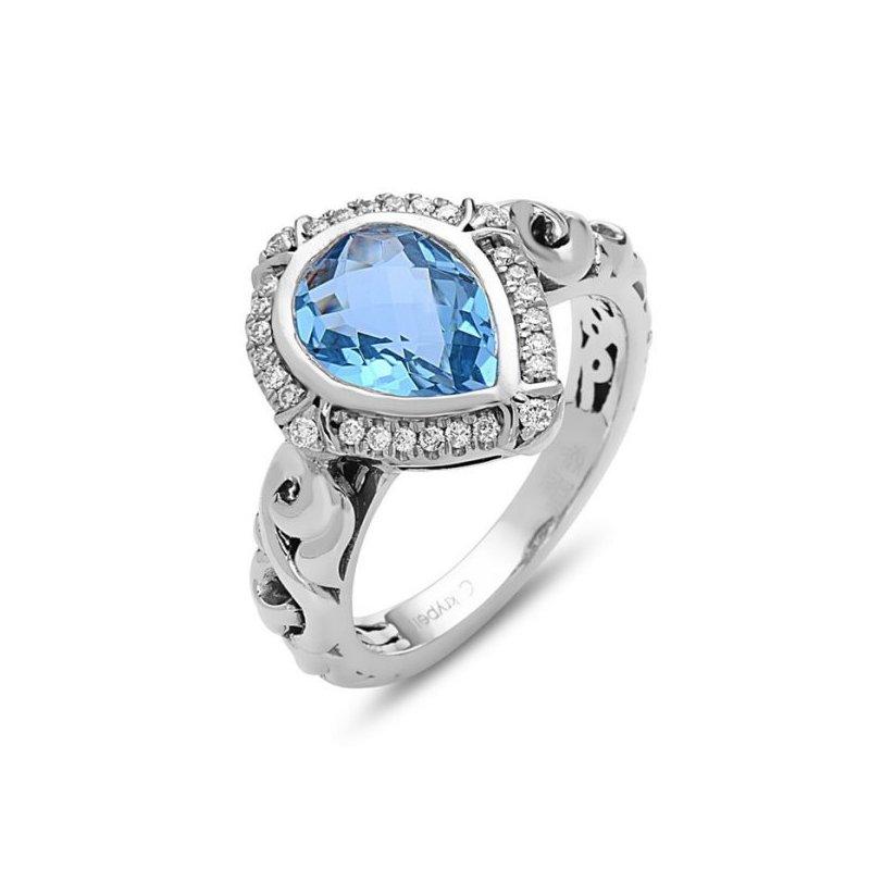 Charles Krypell Ellah Blue Topaz Ring