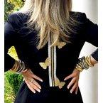 Great American Jewelry  Triple Strand Goldtone Rolling Bracelet