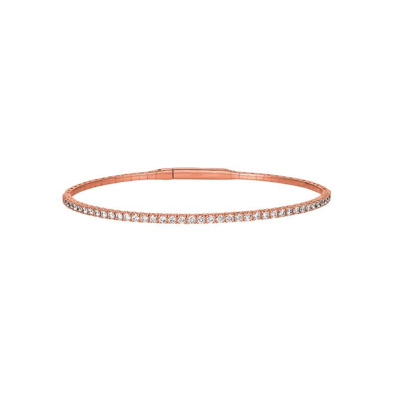 Great American Jewelry  14kt Pink Gold Flexible Diamond Bracelet