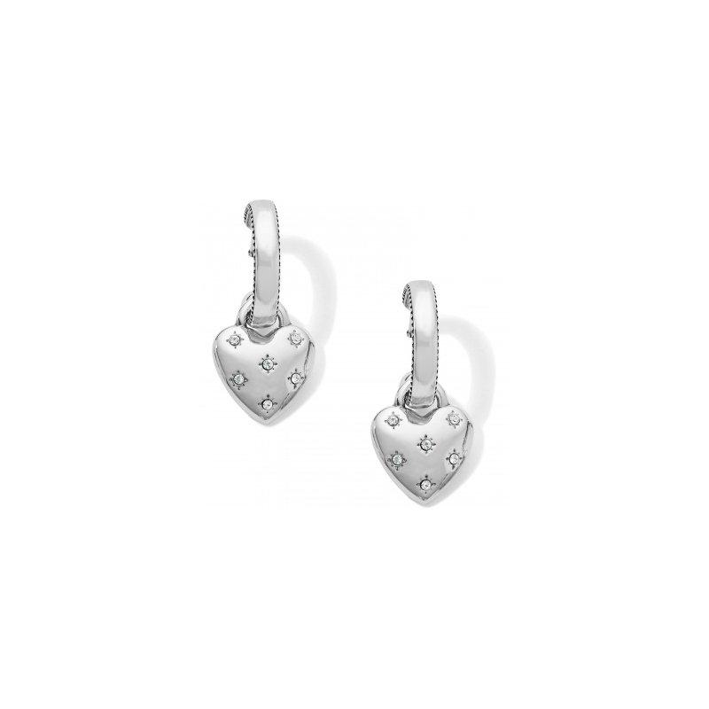 Brighton Stellar Heart Post Hoop Earrings