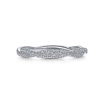 14K White Gold Diamond Fashion Ladies Ring