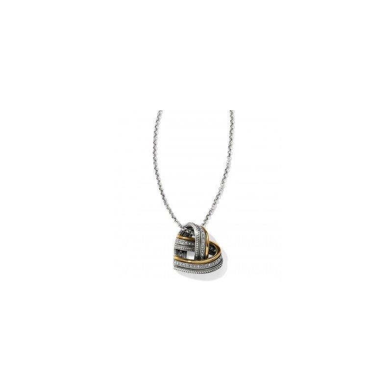 Brighton Neptune's Rings Woven Heart Necklace