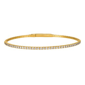 14kt Yellow Gold Flexible Diamond Bracelet