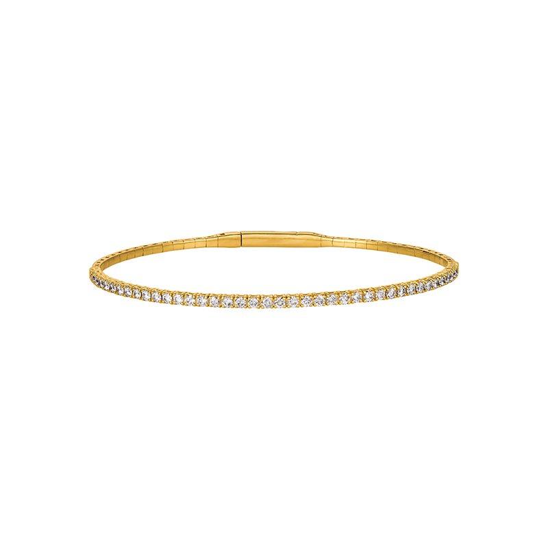 Great American Jewelry  14kt Yellow Gold Flexible Diamond Bracelet