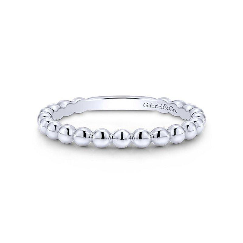 Gabriel Fashion 14k White Gold Stackable Ladies' Ring