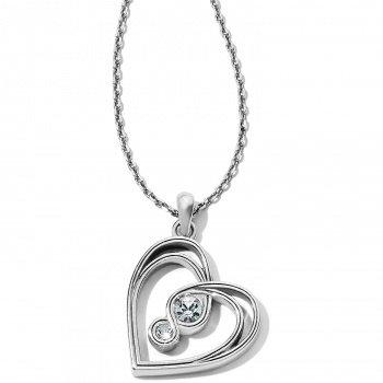Infinity Sparkle Petite Heart Necklace