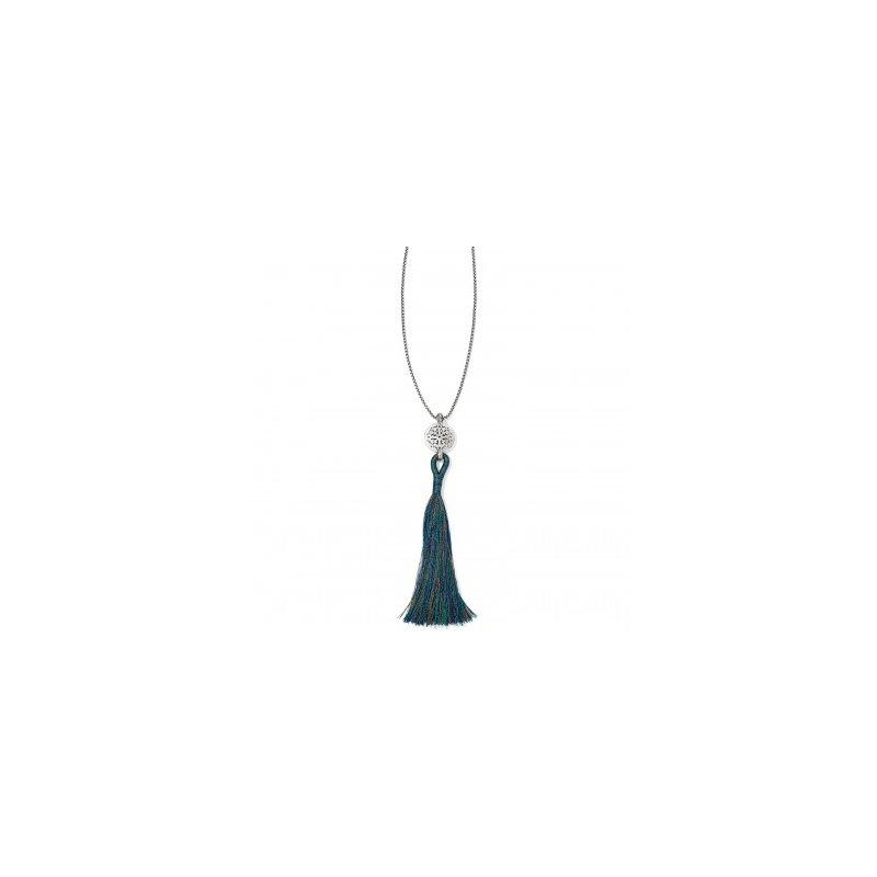 Brighton Ferrara Medallion Tassel Necklace