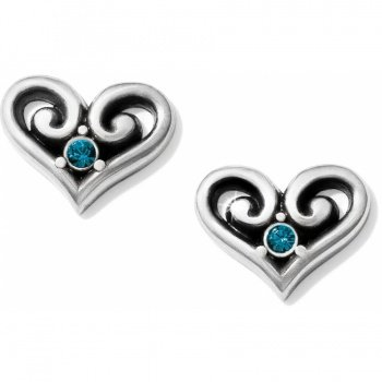 Alcazar Heart Crystal Post Earrings