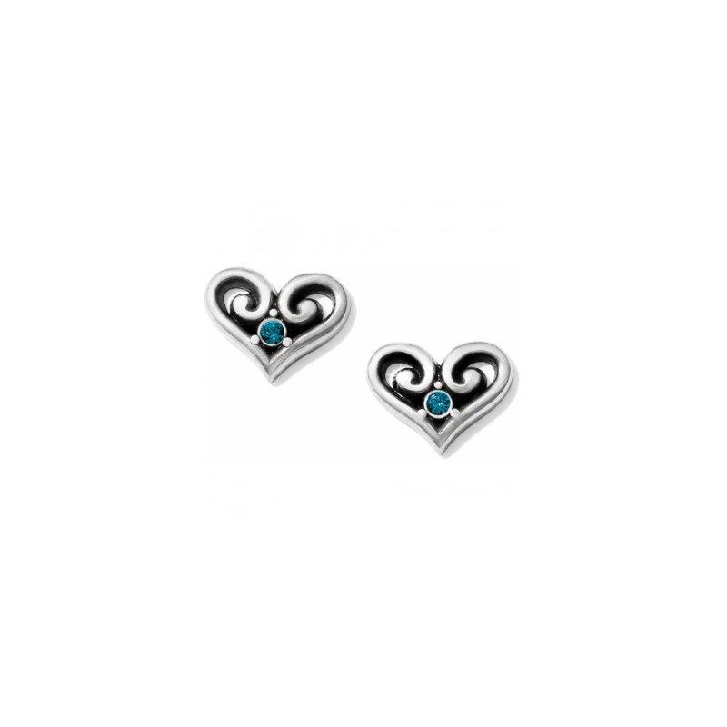 Brighton Alcazar Heart Crystal Post Earrings