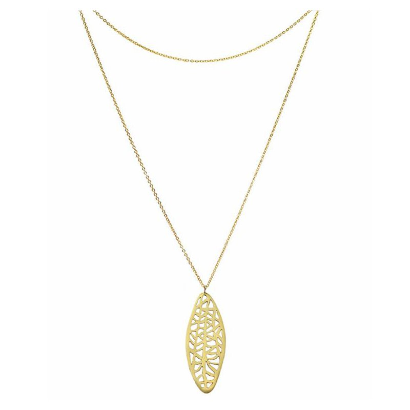 Hinchliffe Jewelry LONG OVAL VANDA NECKLACE
