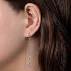 Gabriel Fashion 14K White Gold Fashion Earrings