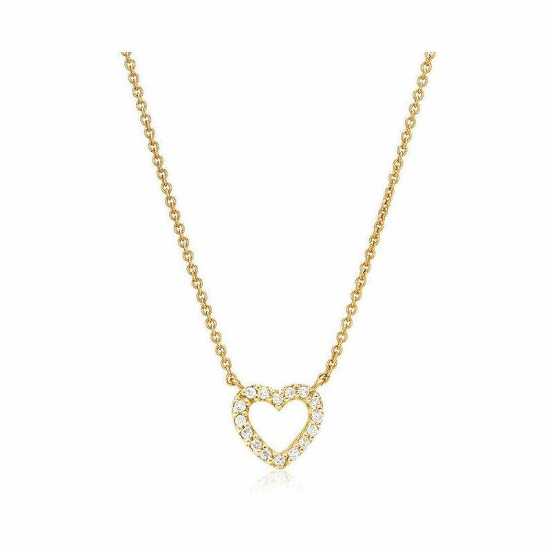 Liven Co. Mini Open Heart Necklace