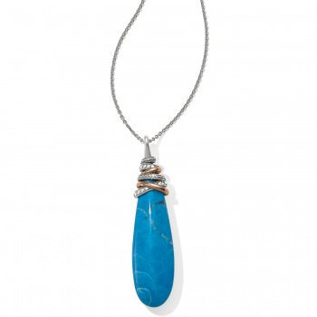 Neptune's Rings Pyramid Drop Turquoise Necklace