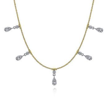 14K Yellow/White Gold Fashion Necklace