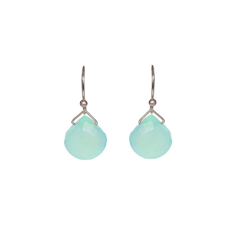 Hinchliffe Jewelry TURQUOISE CHALCEDONY EARRINGS