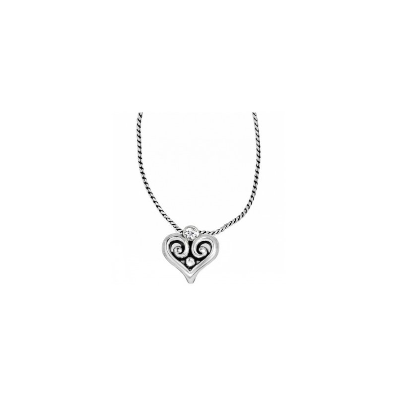 Brighton Alcazar Heart Badge Clip Necklace