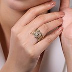 Gabriel Fashion 14K Yellow Gold Fashion Ladies Ring