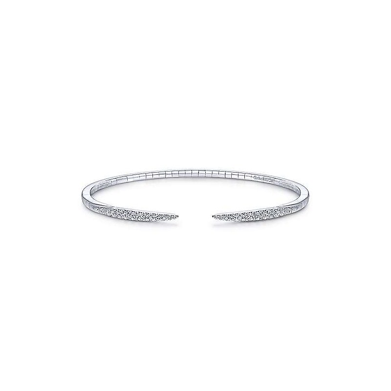 Gabriel Fashion 14K White Gold Fashion Bangle