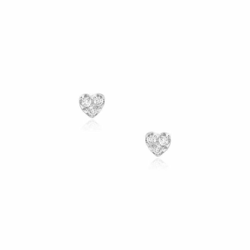 Liven Co. Petite Heart Post Earrings