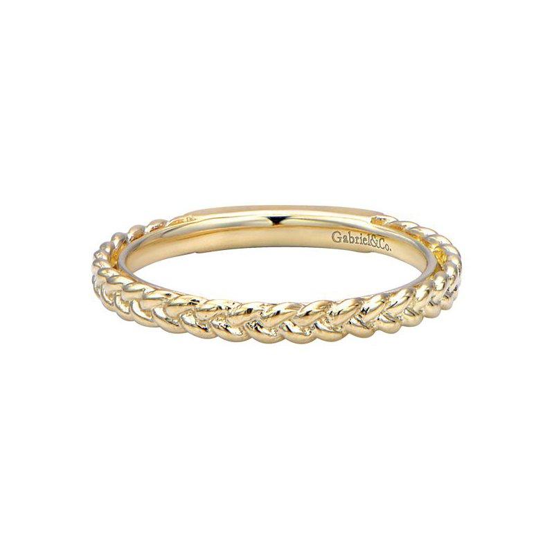 Gabriel Fashion 14k Yellow Gold Stackable Ladies' Ring