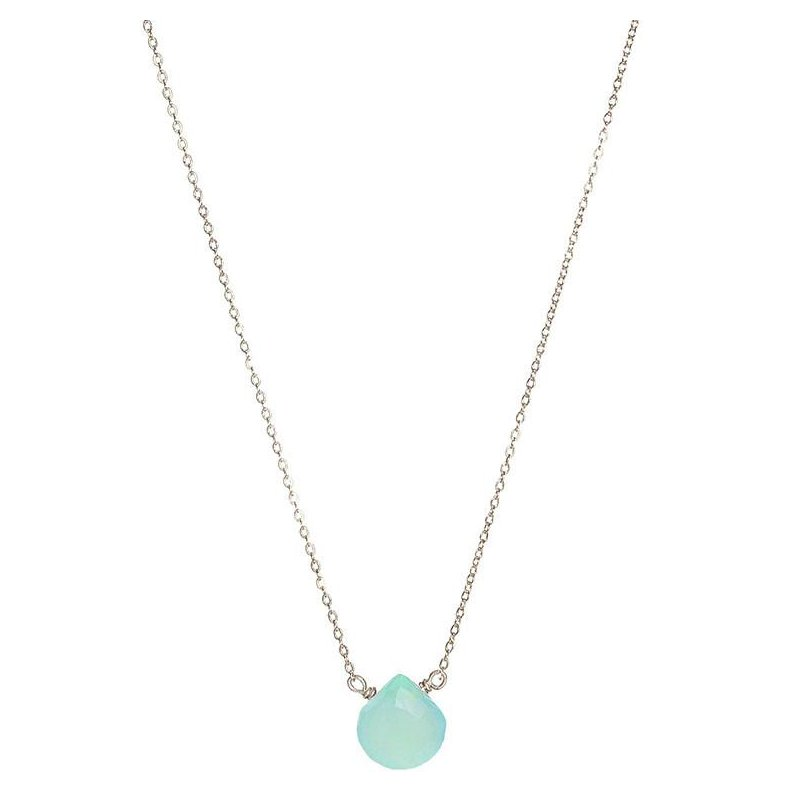 Hinchliffe Jewelry TURQUOISE CHALCEDONY NECKLACE