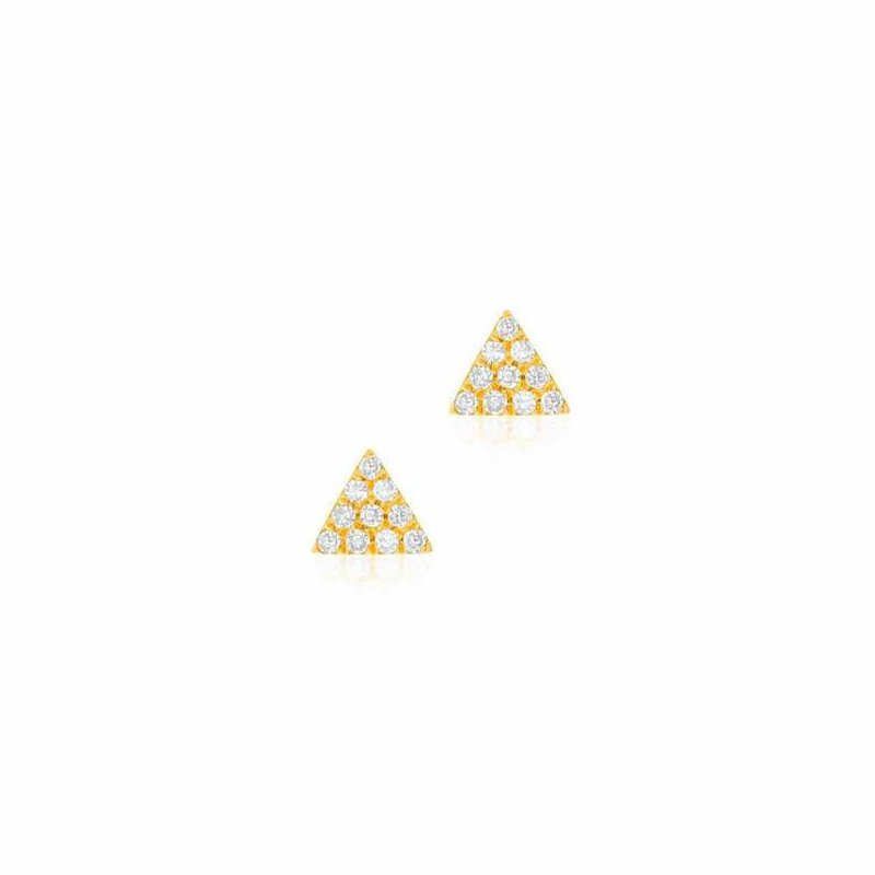 Liven Co. Small Triangle Pave Post Earrings