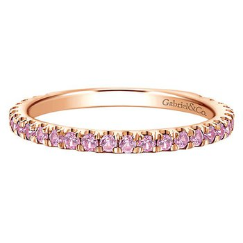 14k Rose Gold Stackable Sapphire Ladies' Ring