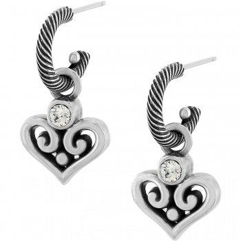 Alcazar Heart Hoop Drop Earrings