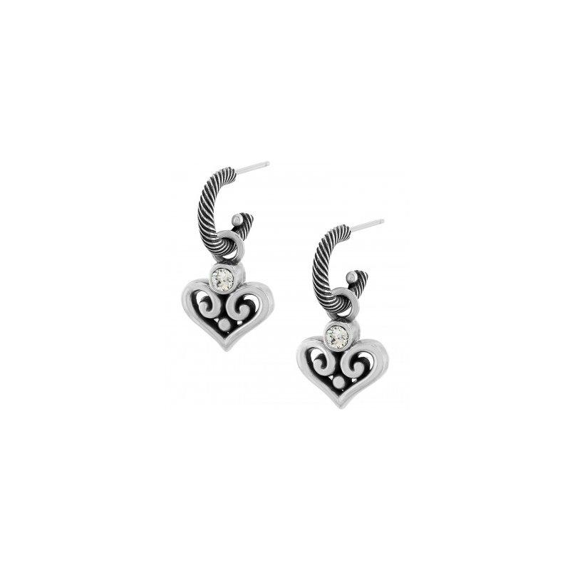 Brighton Alcazar Heart Hoop Drop Earrings